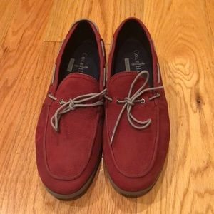 Men's Cole Haan Red Leather Boat Shoes
